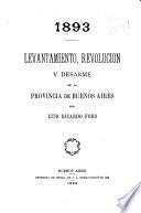 1893 levantamiento, revolución y desarme de la provincia de Bueons Aires