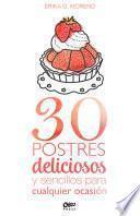 30 postres deliciosos y sencillos para cualquier ocasión