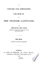 A Concise and Simplified Grammar of the Spanish Language