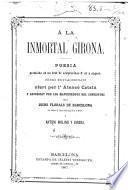 A la inmortal Girona poesia