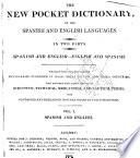 A new pocket dictionary of the Spanish and English languages