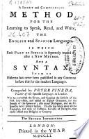 A Short and Compendious Method for the Learning to Speak, Read, and Write the English and Spanish Languages
