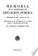 Acción educativa del gobierno federal del ...