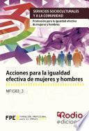 Acciones para la igualdad efectiva de mujeres y hombres