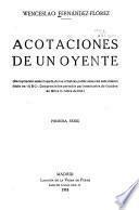 Acotaciones de un oyente (recopilación seleccionada de las crónicas publicadas con este mismo título en A B C.