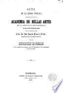 Acta de la sesión pública celebrada por la Acad. de Bellas Artes de la prov.de Barcelona el 23 de Enero de 1860
