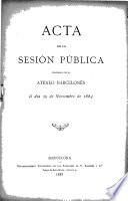 Acta de la sesión pública