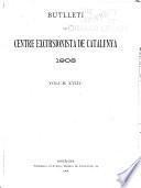 Acta de la sessió inaugural de 1908-1909