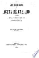 Actas de Cabildo de la ciudad de Mexico
