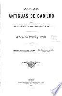 Actas de Cabildo de la ciudad de México