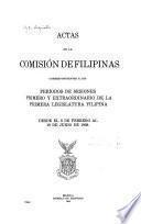 Actas de la Comisión de Filipinas