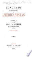 Actas de la cuarta reuninion, Madrid-1881