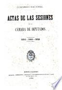 Actas de las sesiones de la Cámara de Diputados