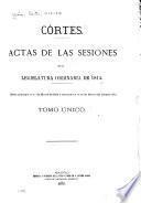 Actas de las sesiones de la legislatura ordinaria de 1813-[1814]