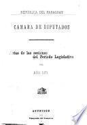 Actas de las sesiones del período legislativo del año ...