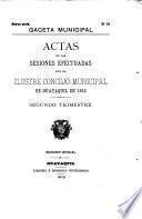 Actas de las sesiones efectuadas por el Ilustre Concejo Municipal de Guayaquil