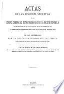 Actas de las sesiones secretas de las Córtes Generales y Extraordinarias de la nación española