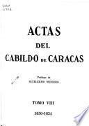 Actas del Cabildo de Caracas