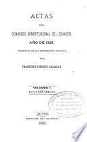 Actas del Congreso constitucional del Ecuador