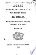Actas del Congreso constitucional del estado de México