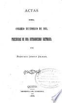 Actas del Congreso ecuatoriano de 1831, precedidas de una introducción histórica