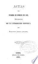 Actas del Congresso ecuatoriano de 1833