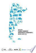 Actas del Primer Congreso Argentino de Transporte