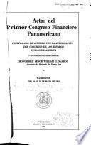 Actas del primer Congreso financiero panamericano
