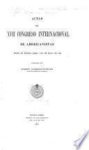 Actas del XVII Congreso internacional de americanistas