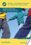 Actividades de educación en el tiempo libre infantil y juvenil. SSCB0209