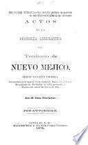 Actos de la asamblea legislativa del territorio de Nuevo Mejico