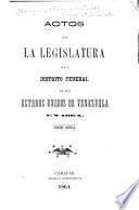 Actos de la Legislatura del Distrito Federal de los Estados Unidos de Venezuela en ...