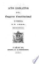Actos legislativos del Congreso Constitucional de Venezuela en 1860