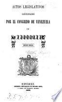 Actos legislativos sancionados por el Congreso de Venezuela de 1853