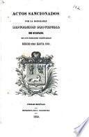 Actos sancionados por la honorable diputación provincial de Guyan en sus sesiones ordinarias desde 1833 hasta 1851