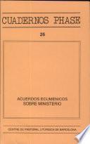 Acuerdos ecuménicos sobre ministerio