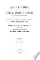 Acuerdos y sentencias dictados por la Suprema Corte de Justicia de la provincia