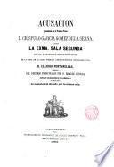 Acusación pronunciada por el Teniente Fiscal D. Crispulo García Gomez de la Serna ante la Excma Sala segunda de la Audiencia de Barcelona, en la vista de la causa formada sobre usurpación del Estado Civil de D. Claudio Fontanellas