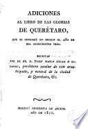 Adiciones al libro de las Glorias de Querétaro