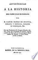 Advertencias 6 la Historia del ... Juan de Mar Mariana (etc.)