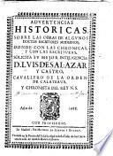 Advertencias historicas sobre las obras de algunos doctos escritores modernos ...