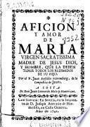 Afición y amor de María