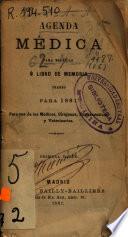 Agenda médica para bolsillo o libro de memoria diario para 1881