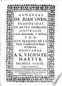 Agudezas trad. en metro Castellano, ilustr. con adiciones, y notas, por Don Francisco de la Torre (y Sebil).