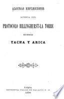 Algunas reflecciones acerca del protocolo Billinghurst-La Torre sobre Tacna y Arica