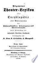 Allgemeines theater-lexikon