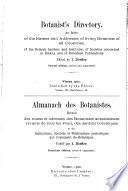 Almanach des botanistes
