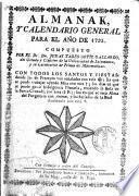 Almanak y calendario general para el año de 1793