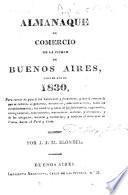 Almanaque de comercio de la ciudad de Buenos Aires, para el año de 1830 ... por J. J. M. Blondel