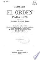 Almanaque de El Orden para 1875
